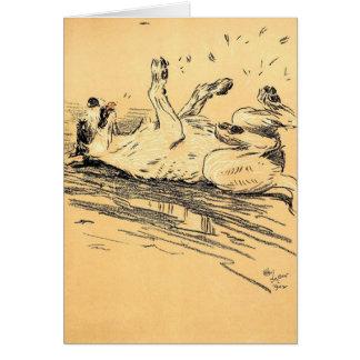 A Dog's Mud Bath, Card