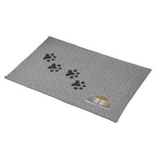 A Dogs Placemat (grey polkadot) Cloth Place Mat