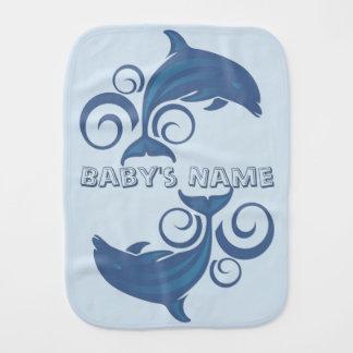 A Dolphin Burp Cloth