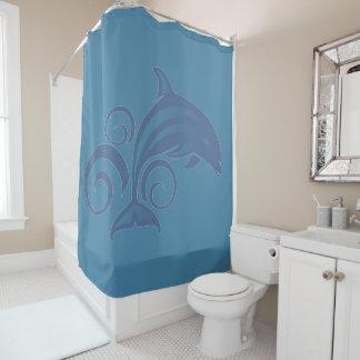 A Dolphin Shower Curtain