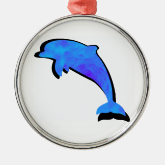 A Dolphins Tale Metal Ornament