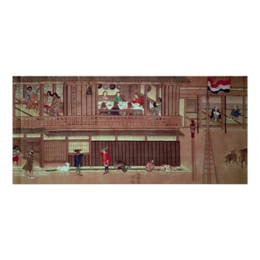 A domestic scene   of a scroll) print