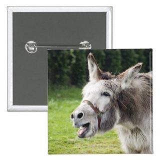 A donkey 15 cm square badge