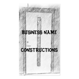 A door pack of standard business cards