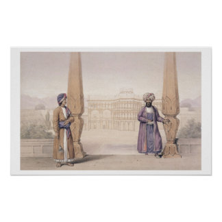 A Dooranee Noble and his Attendant at the Palace Poster