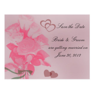 A Dozen Roses Save the Date Postcard