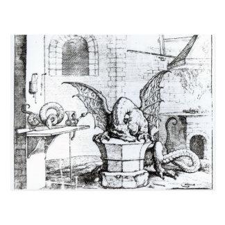 A Dragon in a Workshop Postcard
