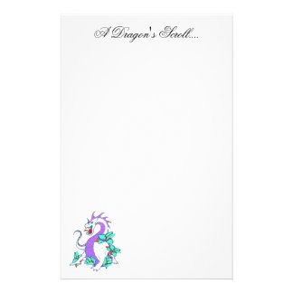 A Dragon's Scroll.... Personalised Stationery