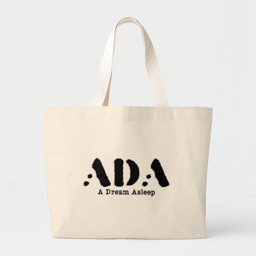 A dream Asleep Stamp Handbag Tote Bag