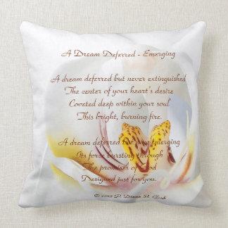 A Dream Deferred - Emerging Orchid Cushion