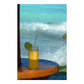 A Drink At The Beach Stationery