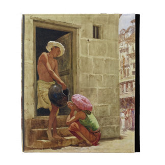 A Drink on the Way, 1876 (w/c on paper) iPad Folio Cover