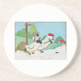 A duck and a drake And a halfpenny cake Coasters
