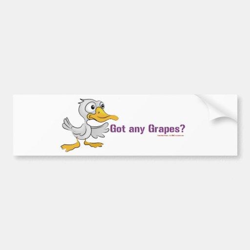 A duck walks into a bar... bumper stickers