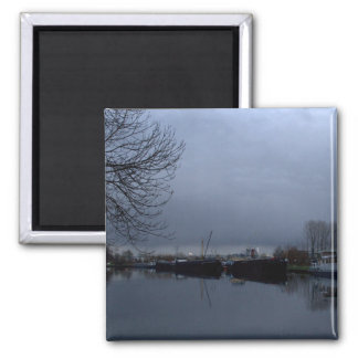 A Dutch canal Fridge Magnets