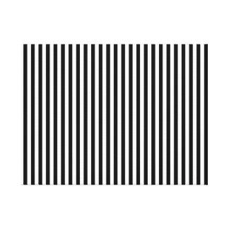 A Elegant Black and White Modern Stripes Gallery Wrap Canvas