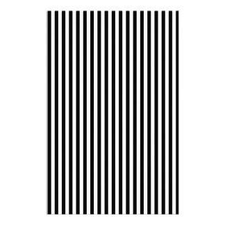 A Elegant Black and White Modern Stripes Custom Stationery