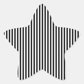 A Elegant Black and White Modern Stripes Sticker