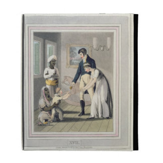 A European Lady and her Family, attended by an Aya iPad Folio Covers