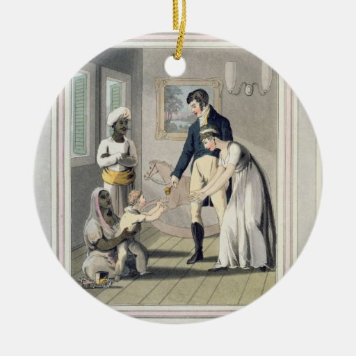 A European Lady and her Family, attended by an Aya Ornament