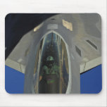 A F-22 Raptor receives fuel from a KC-135 Mouse Pad