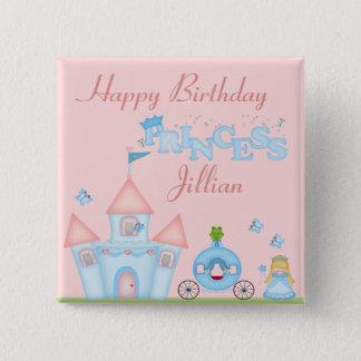 A Fabulous Princess Party 15 Cm Square Badge
