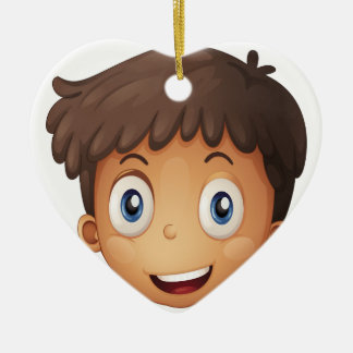 A face of a boy christmas tree ornaments