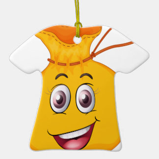 a face on a bag ceramic T-Shirt decoration