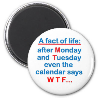 a fact of life 6 cm round magnet