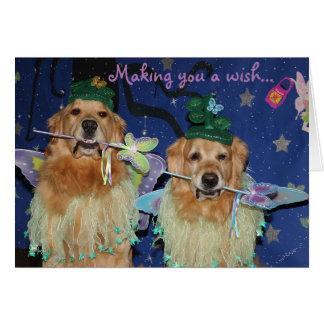 A Fairy Golden Birthday Card