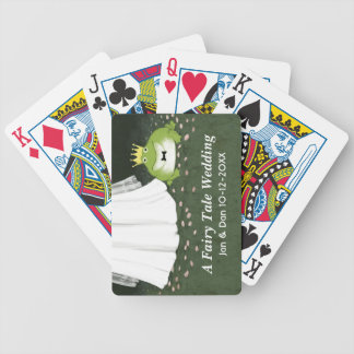 A Fairy Tale Wedding - Frog Prince Groom and Bride Bicycle Playing Cards
