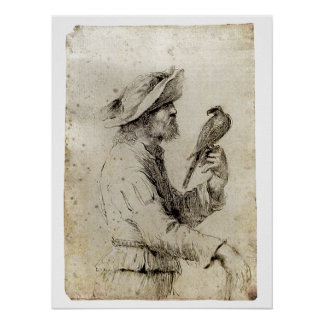 A Falconer - 1640 Poster