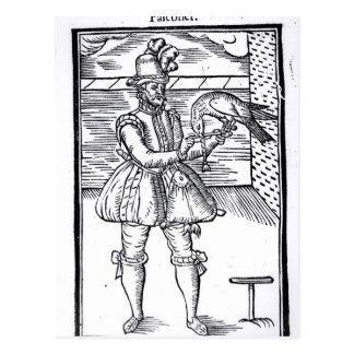 A Falconer with his Goshawk Postcard
