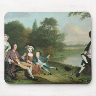 A family of Anglers, 1749 Mouse Pad