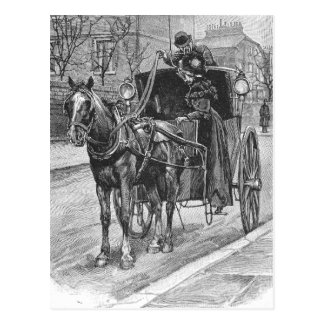 A Fare for a Hansom Cab Driver Postcard