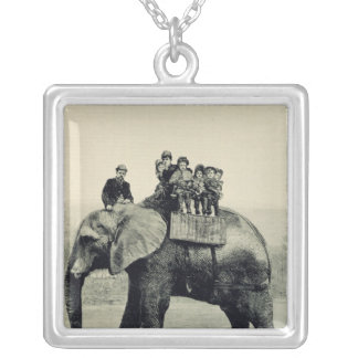A Farewell Ride on Jumbo Silver Plated Necklace