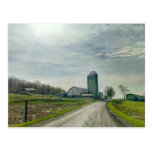 a farm in the Finger Lakes of Upstate New York Postcard