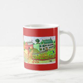 A Farm with a Barnyard Coffee Mug