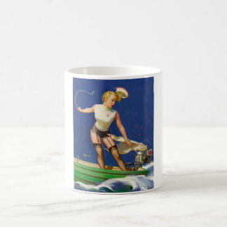 A Fast Takeoff Pin Up Art Coffee Mug