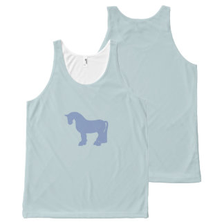 A Fat Blue Pony All-Over Print Singlet