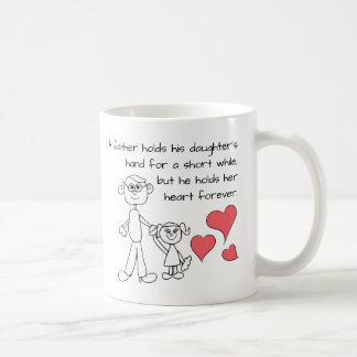 A Father Holds His Daughter's Hand Coffee Mug