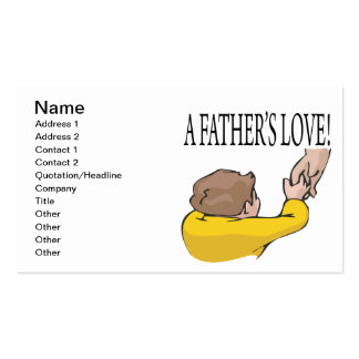 A Fathers Love Pack Of Standard Business Cards