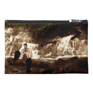 A faun by the stream travel accessory bag