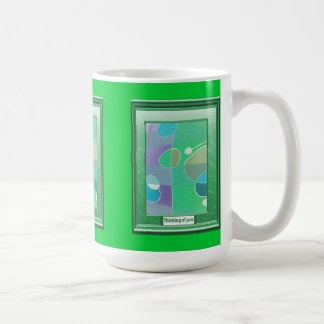 A feast of colour, Abstract with eggs Coffee Mugs