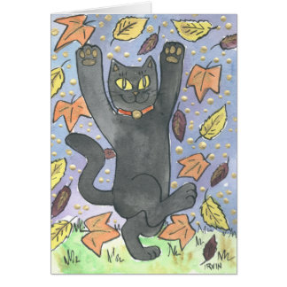 A Feeling Lucky Autumn Leaf Dance Card