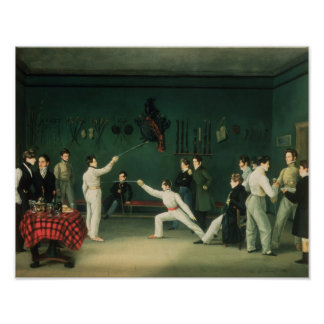 A Fencing Scene, 1827 Poster