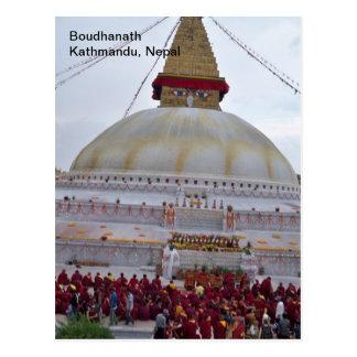A Festival at Boudha Stupa Postcard