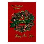 A festive Christmas Wreath for your Grandma Greeting Card