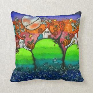 A Festive Fall Original Art Pillow