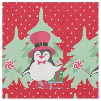 A Festive Penguin - 1 Fabric